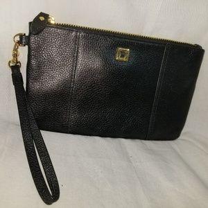 # b8,479 Lodis Wristlet Black Leather